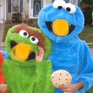 Adult Cookie Monster costume. Sesame Street